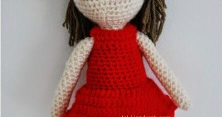 basic doll body crochet pattern ( not include doll's hair) | 234x445