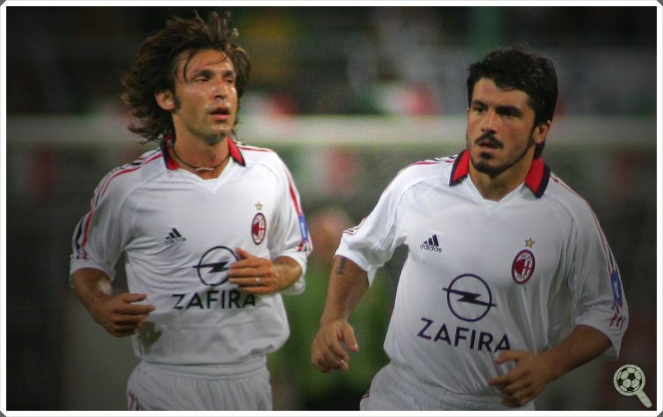 Duplas históricas  Andrea Pirlo e Gennaro Gattuso 0f952381dd799