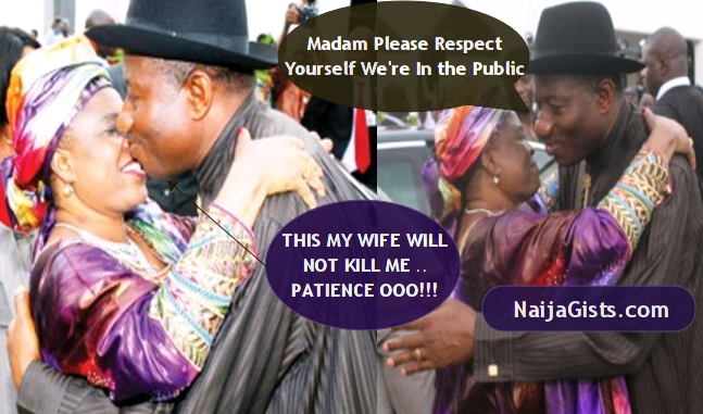 president jonathan dodged wife kiss