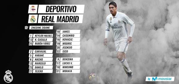 Real Madrid, lista ante el Deportivo con novedades