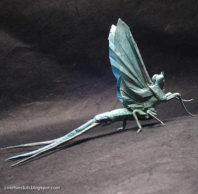 Insecto volador Papiroflexia u origami.
