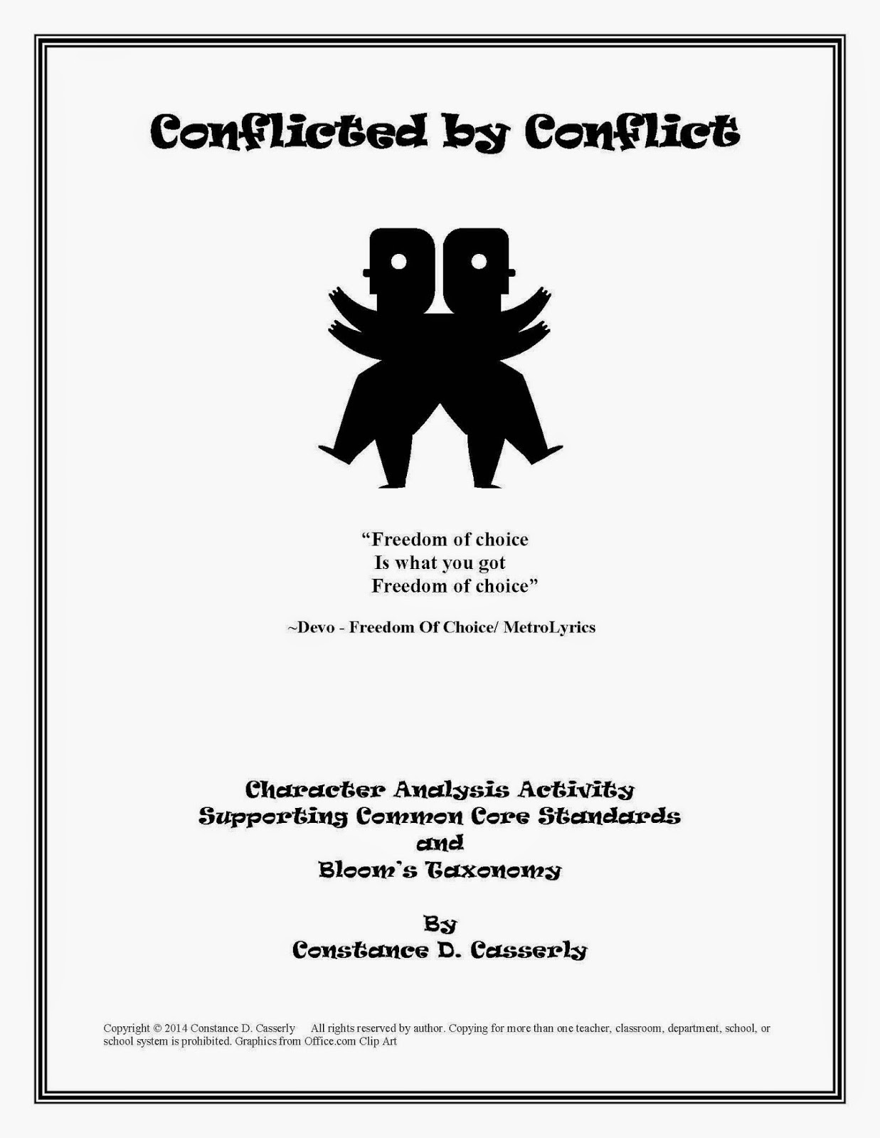 "English Language Arts Lesson Plan - ""Conflicted by Conflict"""