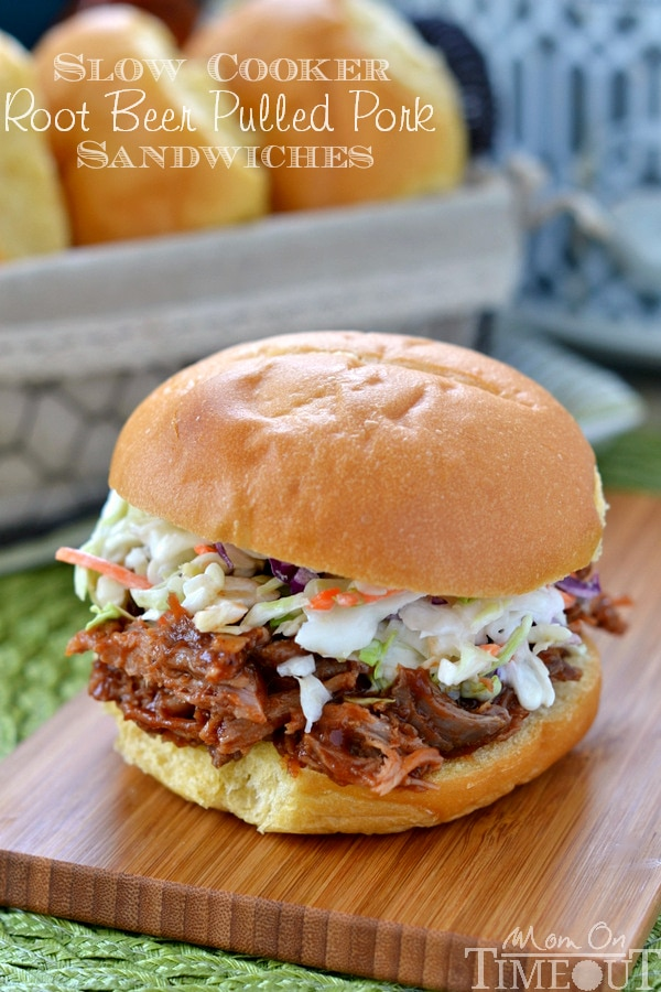 #SlowCooker #Root #Beer #Pulled #Pork #Sandwiches
