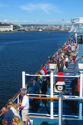 Leaving Seattle aboard the Ruby Princess, copyright Carl Dombek