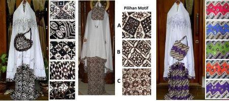 Macam-macam motif mukena batik terbaru