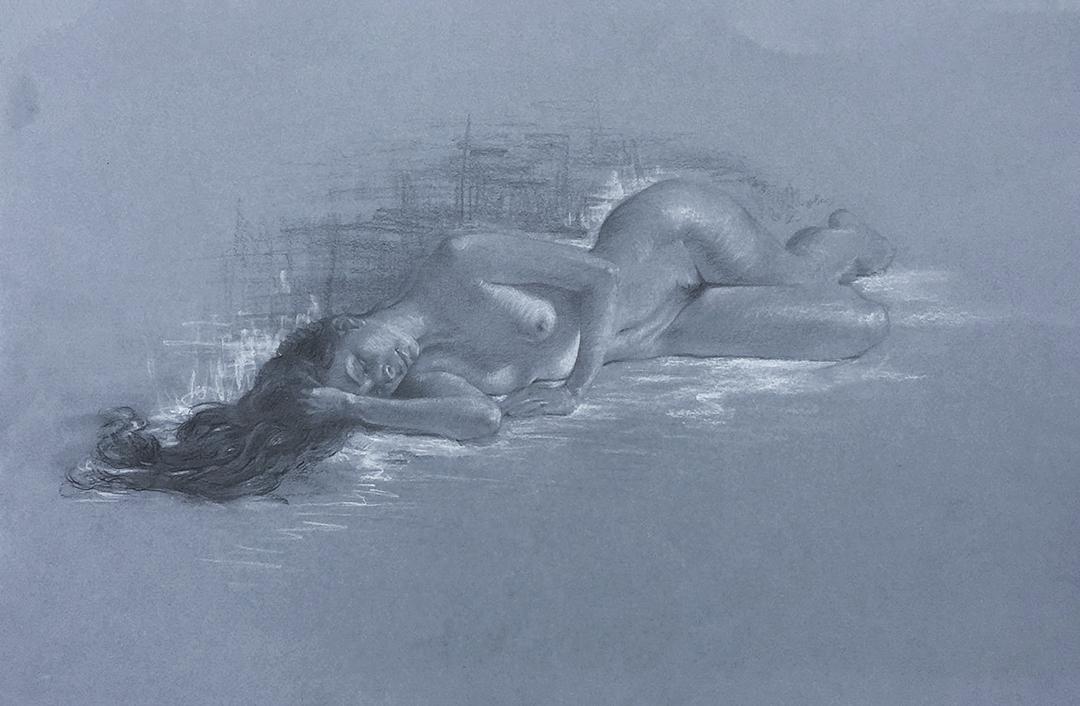 Iva K, Charcoal Figure Drawing