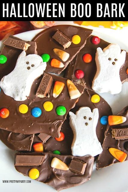 easy halloween candy bark