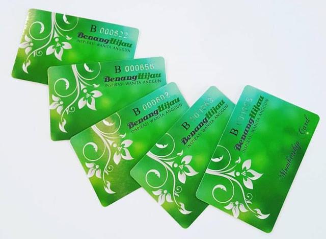 kad keahlian benang hijau