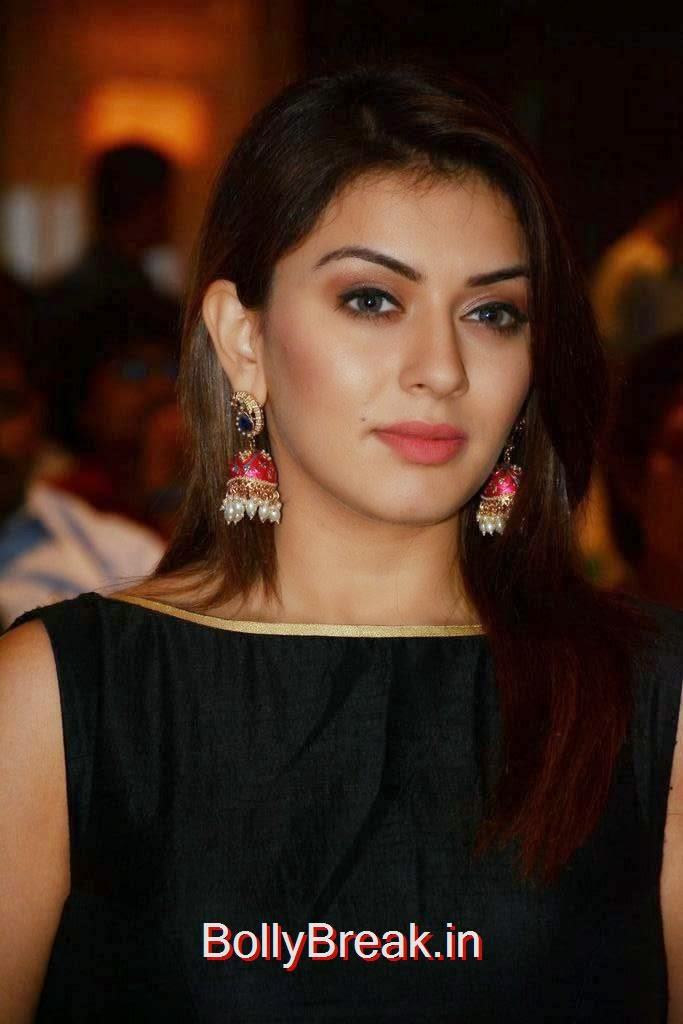 Hansika images, Hansika Latest Hot Pics In Black Dress from Emerald Flats Launch Event