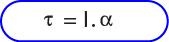 Rumus Hubungan momentum gaya, momen inersia dan percepatan sudut.