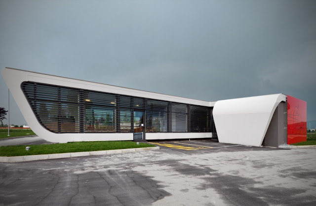 Photo of exterior and the facade at Gazoline Petrol Station by Damilano Studio Architects