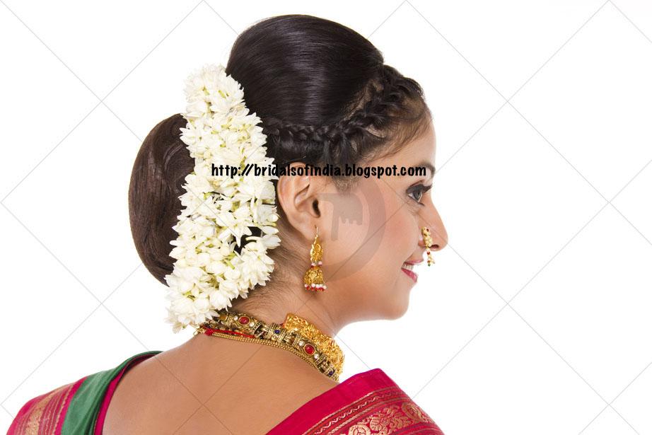 Marathi Bridal Makeup And Hairstyle : Fashion world nauvari saree hairstyle
