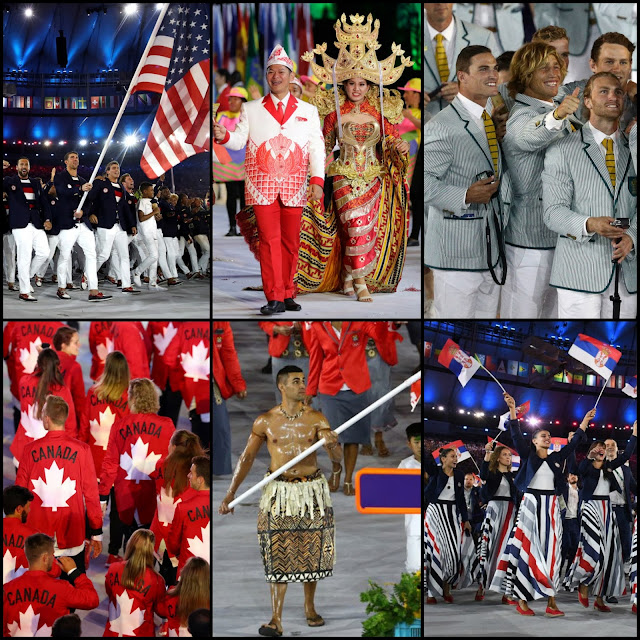 OLYMPIC STYLE.....Rio Olympics Opening Night Ceremony Fashion: My Favorites--and some Uh Oh's--of the Parade of Nations Outfits