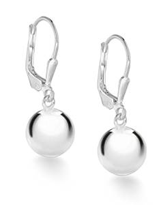 Limited hours, Tuscany Silver Sterling Silver10mm Ball Lever Back Drop Earrings £9.00