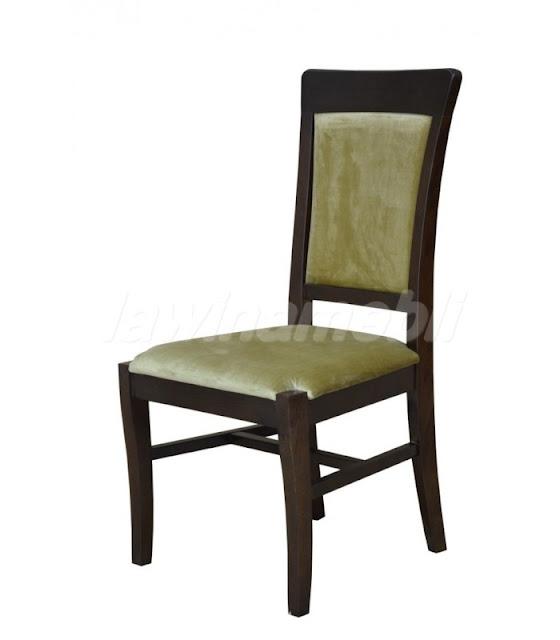 Stylowe krzesło, oparcie i siedzisko tapicerowane