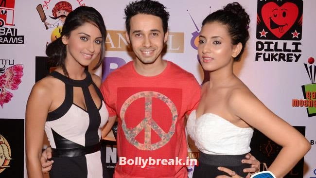 Krystle D Souza, Rizwan and Aditi Gupta, Box Cricket League Success Party - Tv Babes as Guests