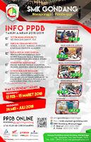 Pamflet Pendaftaran Siswa Baru / PPDB SMK Gondang 2018/2019