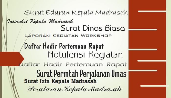 Download 23 Contoh Format Administrasi Tata Persuratan Sekolah / Madrasah