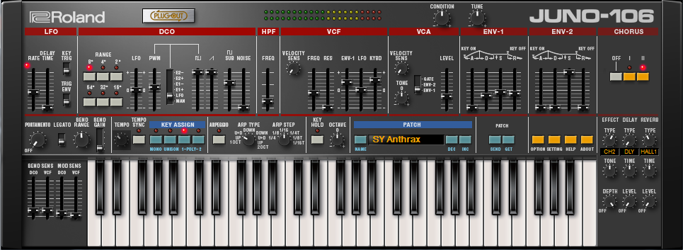 First Impression of the Roland Juno-106 Plugin Synthesizer