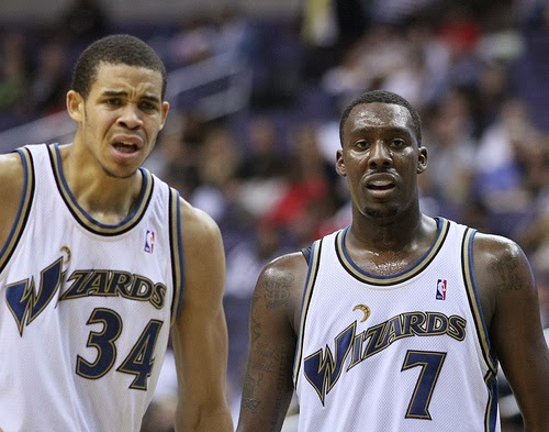 Image: Washington Wizards Javale McGee and Andray Blatche