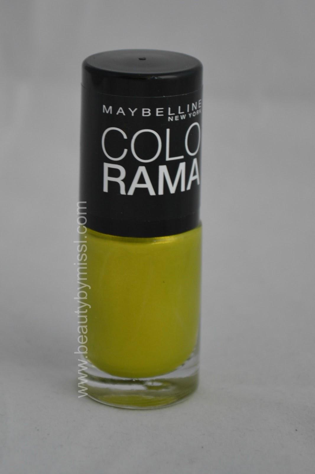 yellow green nail polish
