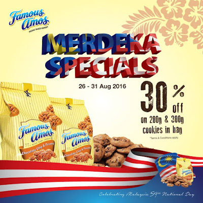 Famous Amos Malaysia Merdeka Special Discount Promo
