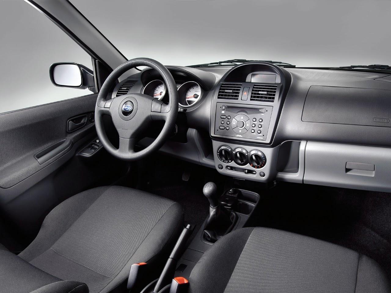 Subaru Justy G3X, wnętrze