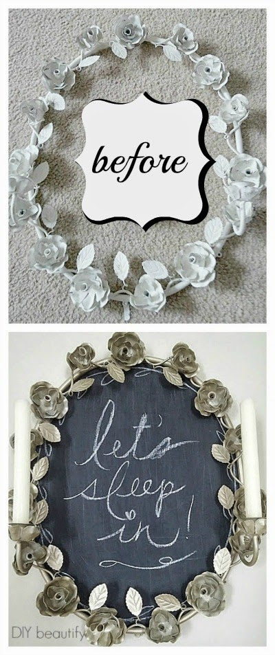 DIY beautify Creating a Chalkboard from a piece of Posterboard!
