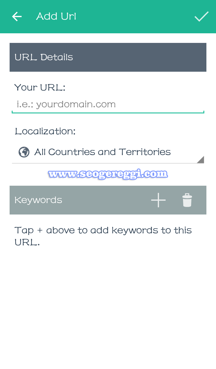 Menu Add Url Seo Serp Mojo Rank Tracker