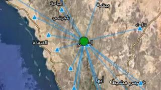 زلزال بقوة 4 درجات يضرب شمال النماص بالمملكة العربية السعودية