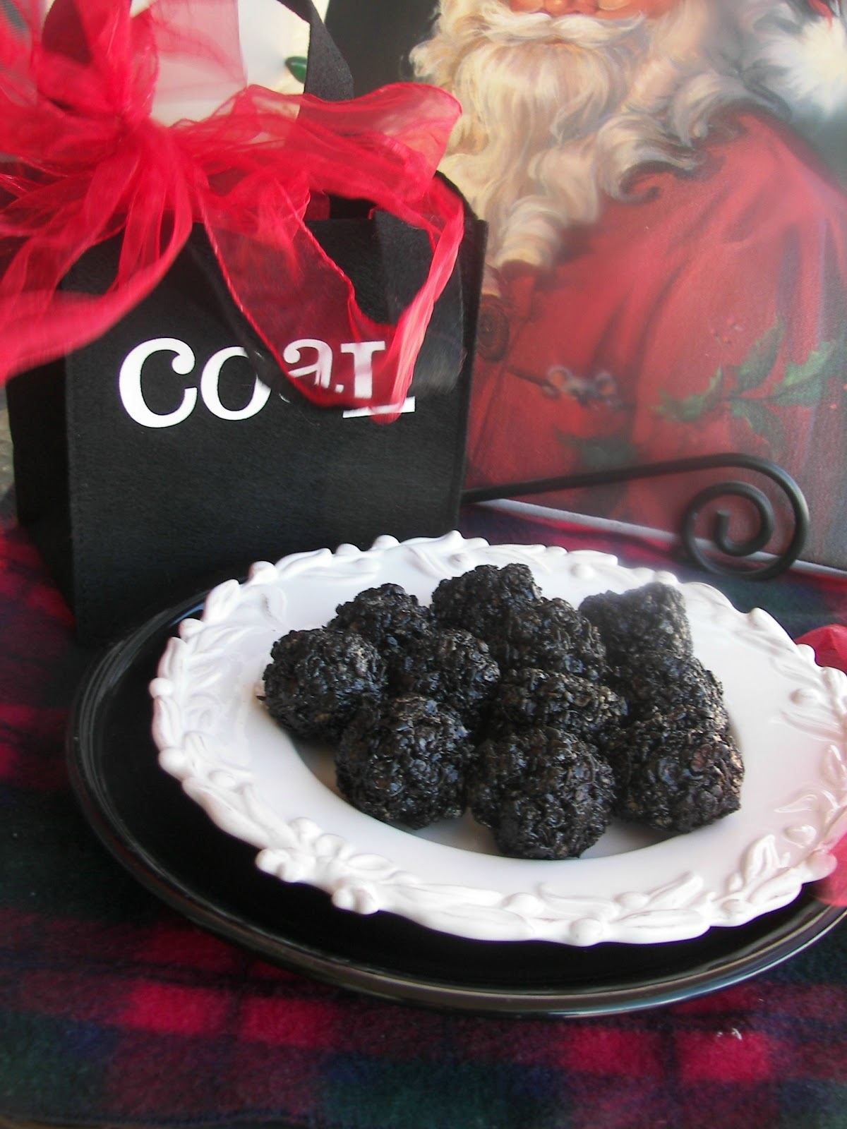 Red Couch Recipes Coal From Santa