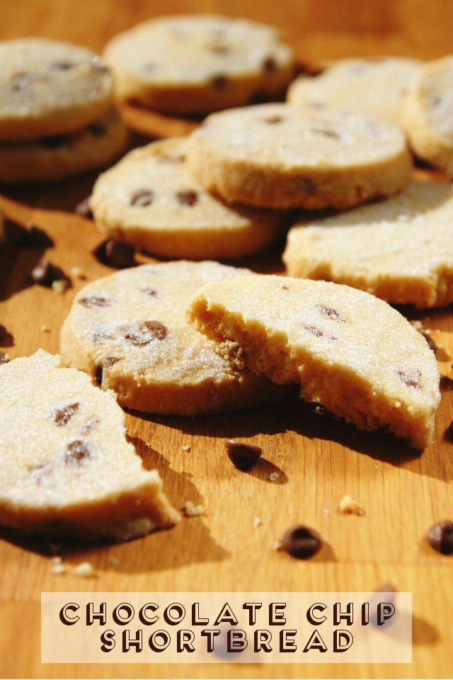 Recipe for buttery and crumbly chocolate chip shortbread