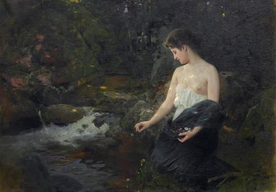 Le Prince Lointain Albert Ritzberger 1853 1915 Jeune Femme En