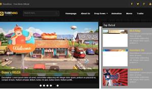 TubeMag Responsive Video Blogger Template