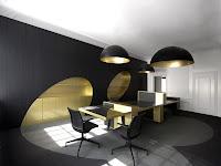 Elegant Office Interior Design Wallpaper