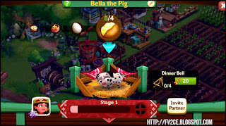 FarmVille 2: Country Escape,black & white pig, potatoes, eggs, farm