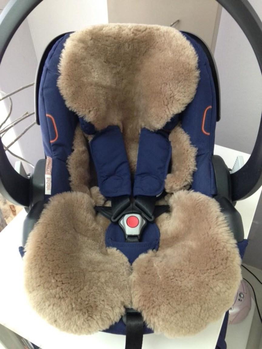 Safetots Lambskin Car Seat and Stroller Liner