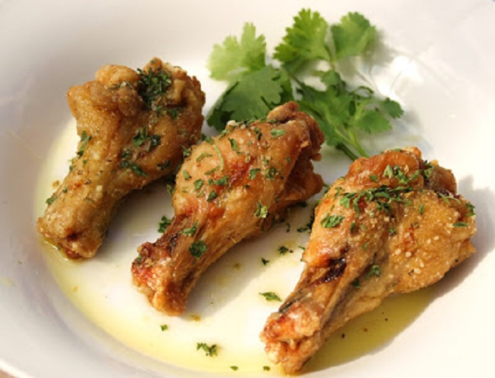 These are baked chicken wings with herbs and spices healthier chicken wings for a healthy diet