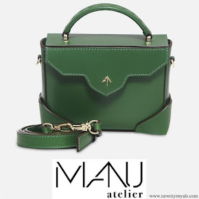 Kate Middleton carried Manu Atelier Micro Bold Monte Green Bag