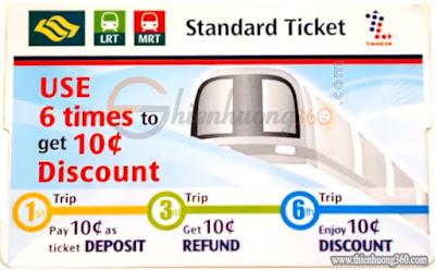 Standard Ticket Singapore