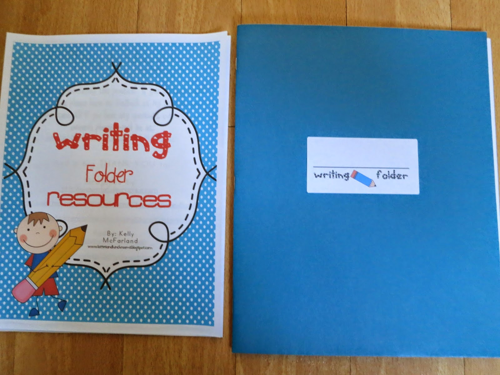 lattes and lunchrooms: writing folders!