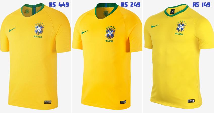 289636ed9d Os uniformes da Seleção Brasileira para a Copa do Mundo 2018. De 149 ...