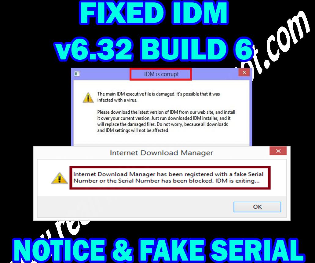 RikyRYFN: Fixed IDM 6 32 Build 6 Fake Serial & IDM