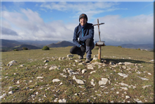 Peña La Llana mendiaren gailurra 887 m. -- 2017ko azaroaren 25ean