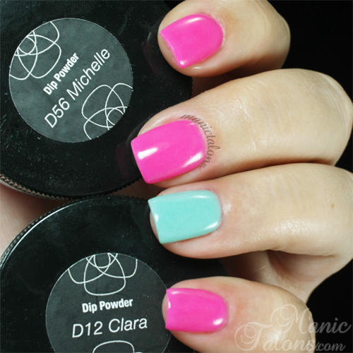 Revel Nail Acrylic Dip Powder In D56 Michelle And D12 Clara