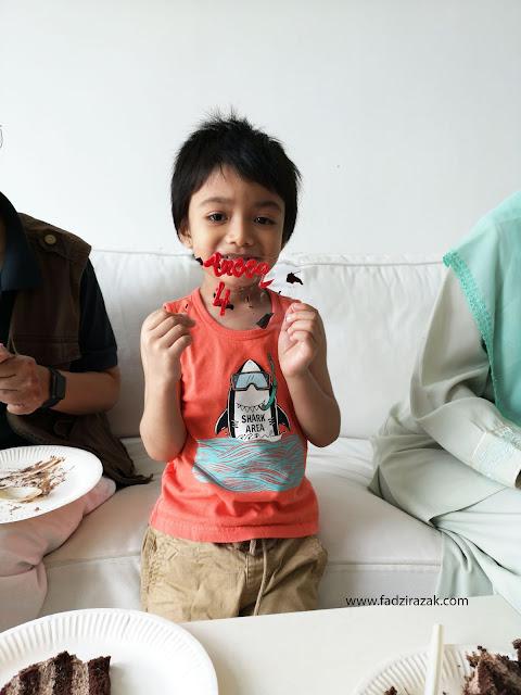 Sambut Birthday Aneeq Yang Ke 4 Tahun