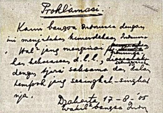 Sejarah Perumusan Naskah Proklamasi