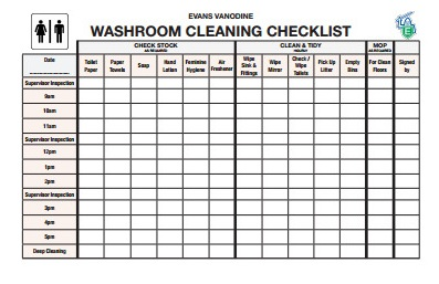 restroom cleaning log free download - Bathroom Cleaning Checklist