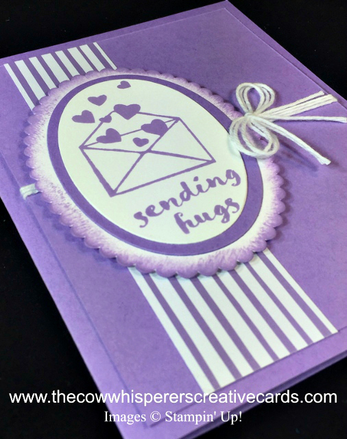 Card, One for All, Layering Oval Framelits, Highland Heather