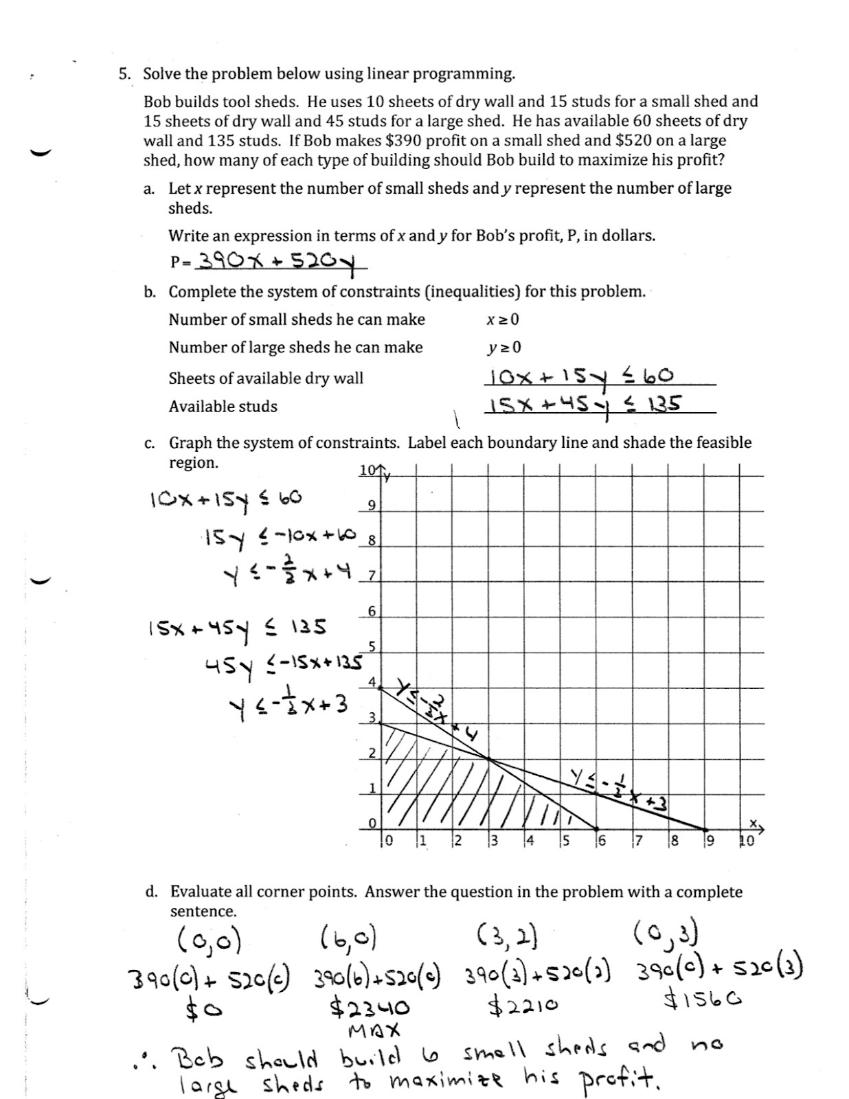 Iroquois Algebra Blog Unit 9 Practice Test Answer Key